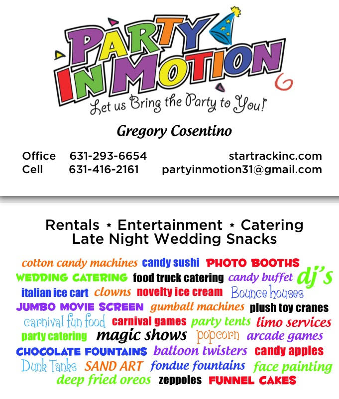 Star Track Inc  | Long Island Party Rentals | Party In Motion
